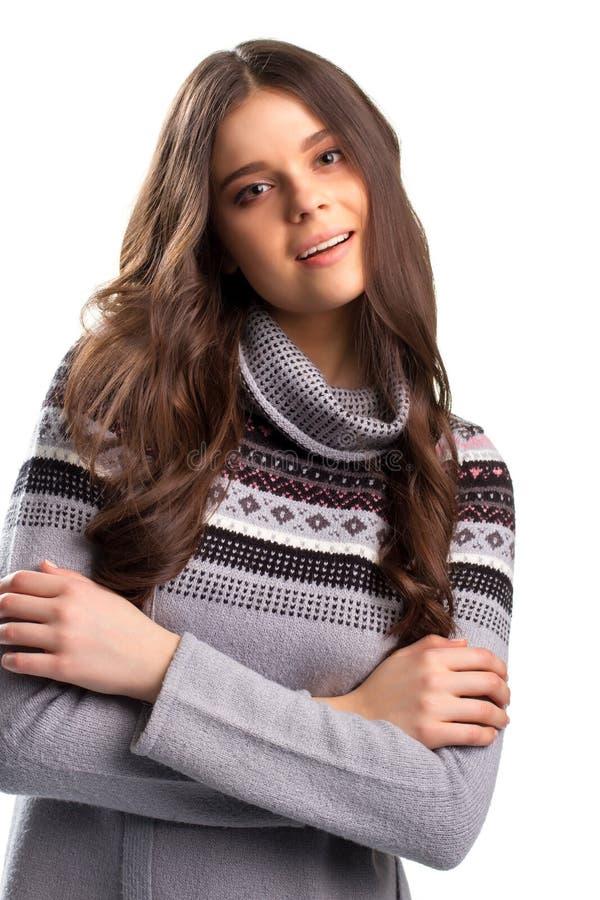 Ruhiges Gesicht junger Dame stockfoto