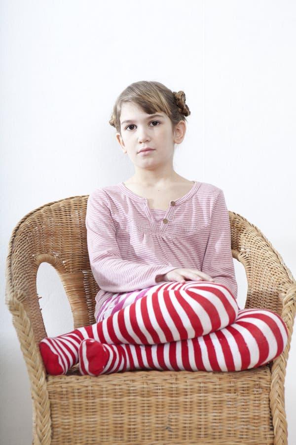 Ruhiges kleines Mädchen stockfotografie
