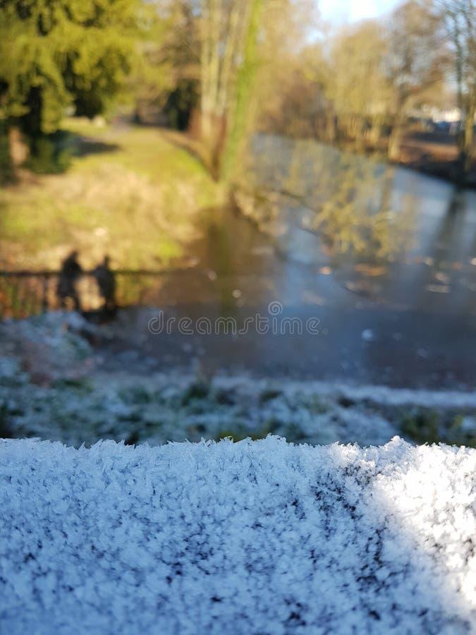 Ruhr River congelado foto de stock royalty free