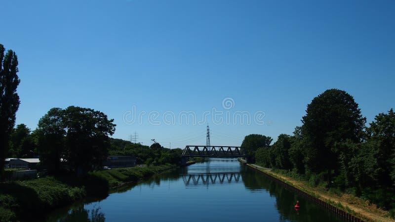 Ruhrgebiet Kanal fotografia stock