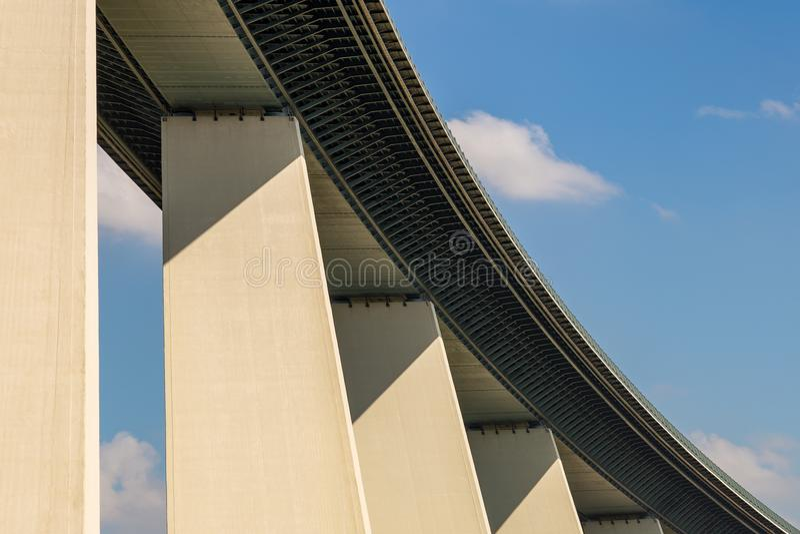 Ruhrtalbruecke near Muelheim, Germany. Ruhrtalbruecke Ruhr Valley viaduct near Muelheim, Ruhr Area, North Rhine-Westphalia, Germany stock photo