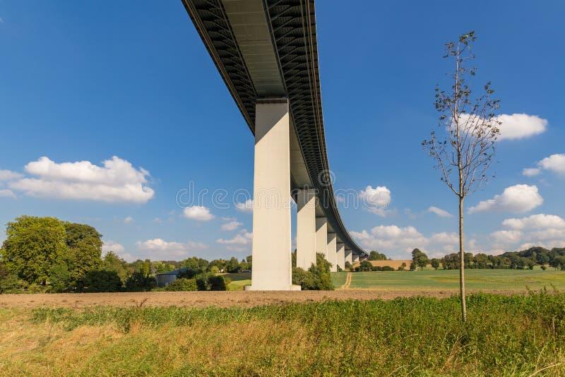 Ruhrtalbruecke near Muelheim, Germany. Ruhrtalbruecke Ruhr Valley viaduct near Muelheim, Ruhr Area, North Rhine-Westphalia, Germany stock photography