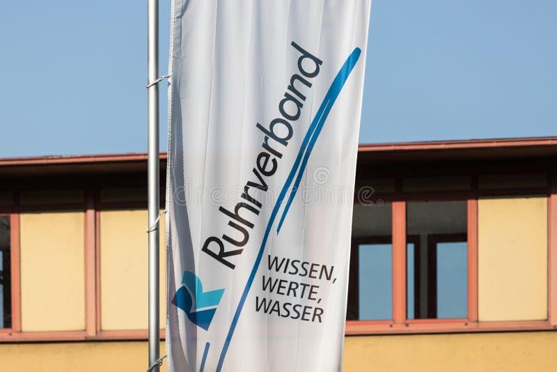 Ruhrverband旗子在哈根德国 库存照片