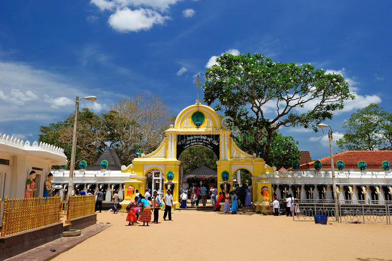 Ruhunu Maha Kataragama Devalaya, Sri Lanka fotografia stock