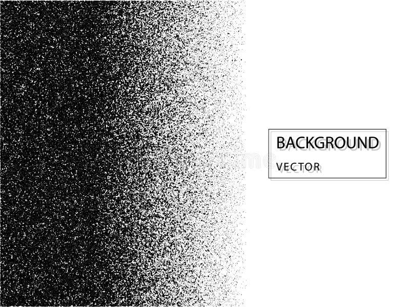 Ruido abstracto del vector que desaparece Capa de la textura del Grunge con las partículas finas en fondo aislado libre illustration