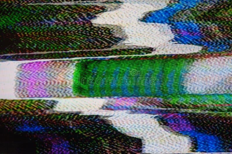 Ruido de la televisión de Digitaces imagenes de archivo