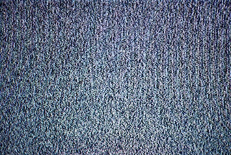 Ruido de la TV fotografía de archivo libre de regalías