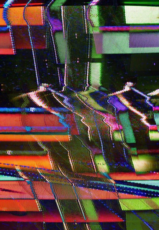Ruido de la TV foto de archivo