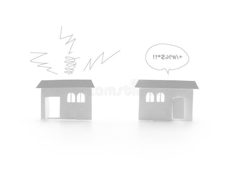 Ruido del vecino stock de ilustración