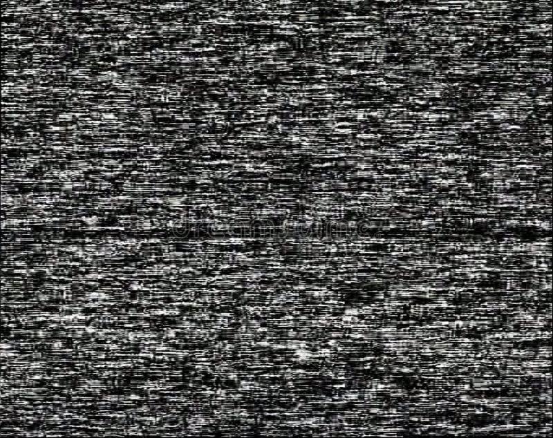 Ruido en una pantalla negra imagen de archivo