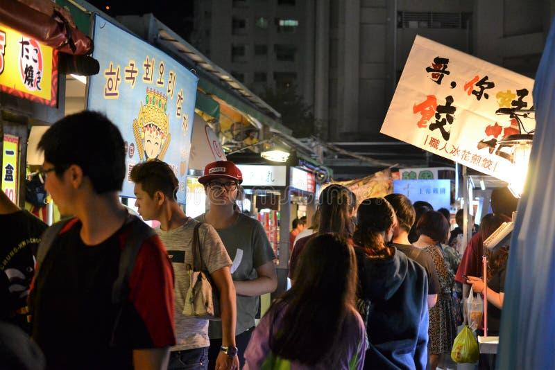 Ruifeng nattmarknad i Kaohsiung, Taiwan nightmarket arkivfoto