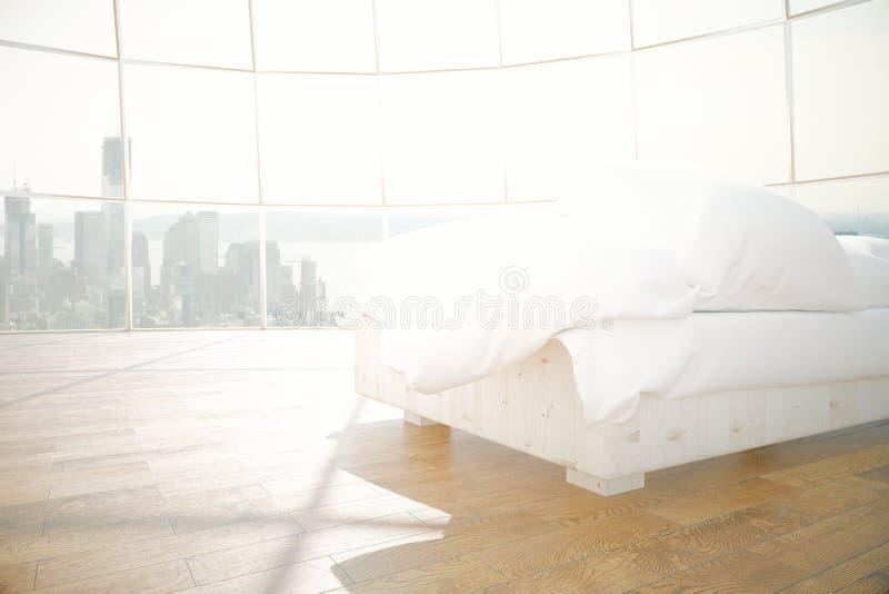 Ruim binnenland met witte zetel royalty-vrije illustratie