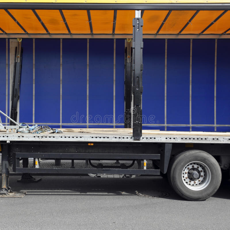 Ruim vrachtwagenbinnenland stock fotografie