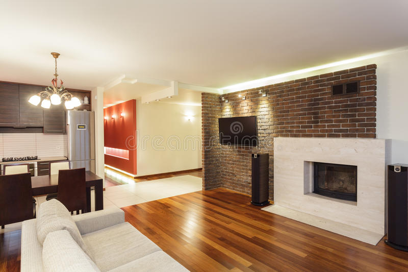 Ruime flat - binnenland stock fotografie