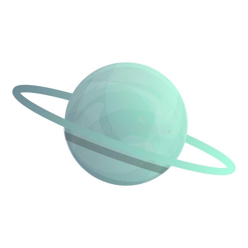 Ruimte de planeetpictogram van Saturn, beeldverhaalstijl vector illustratie
