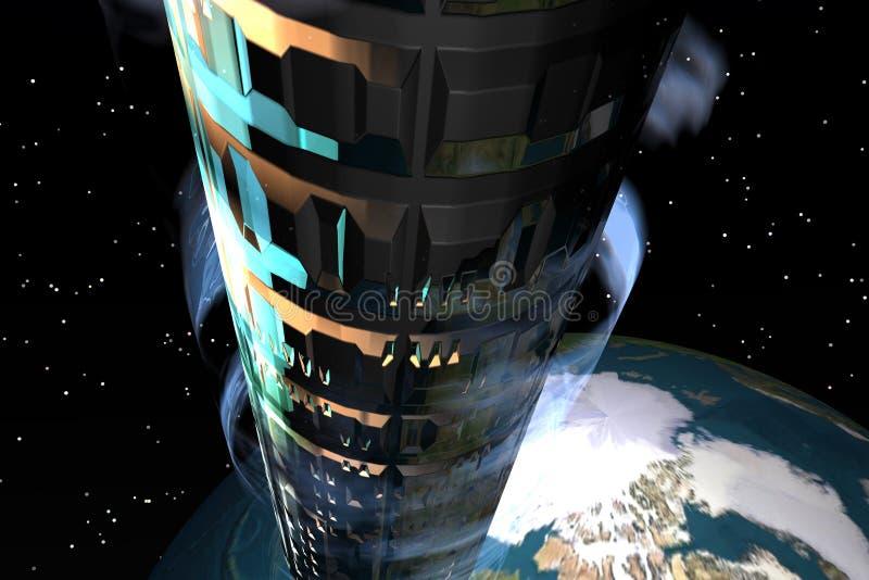 Ruimte Elevator1 stock illustratie