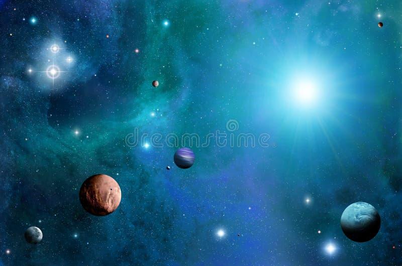 Ruimte en Planeten stock illustratie