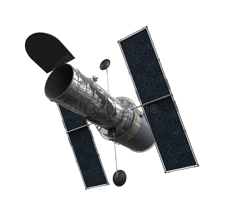 Ruimte Geïsoleerde Telescoop stock illustratie