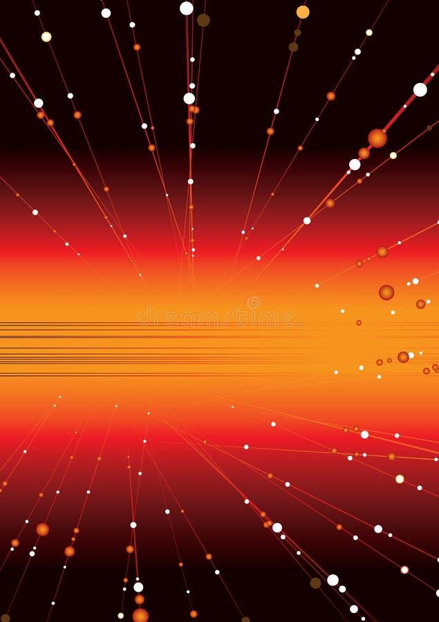 Ruimte gloed vector illustratie
