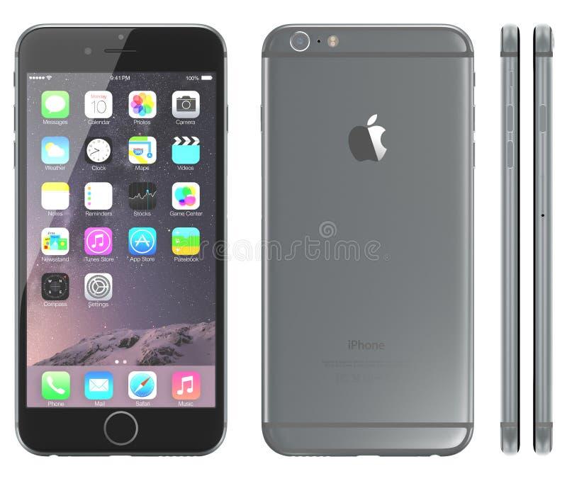 Ruimte Grijze iPhone 6 stock illustratie