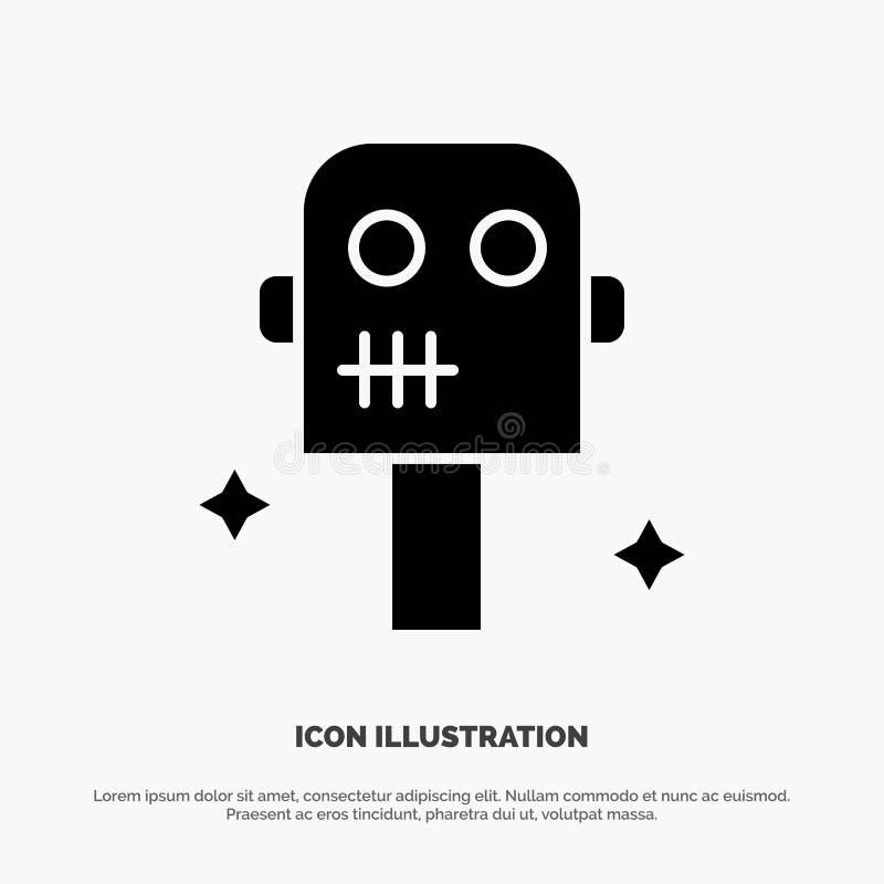 Ruimte, Kostuum, het Pictogramvector van Robot stevige Glyph royalty-vrije illustratie
