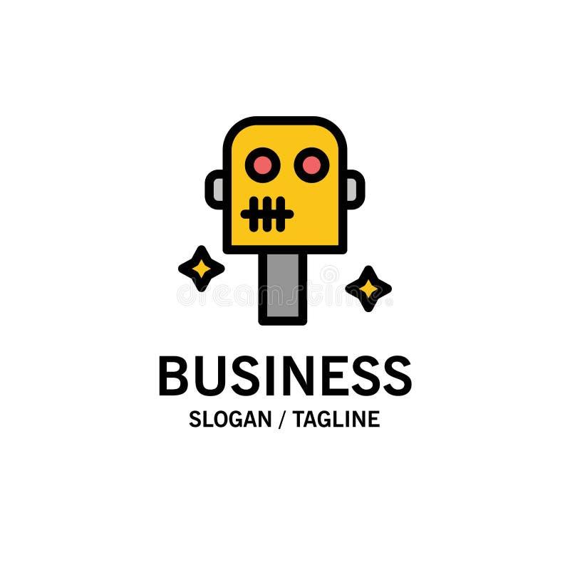 Ruimte, Kostuum, Robotzaken Logo Template vlakke kleur stock illustratie