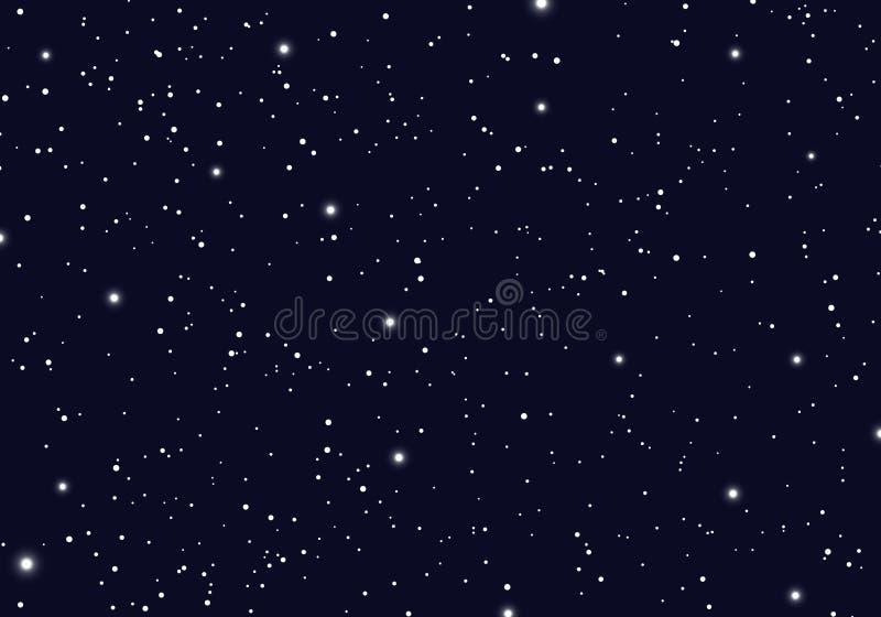 Ruimte met de ruimteoneindigheid van het sterrenheelal en sterrelichtachtergrond De sterrige melkweg en de planeten van de nachth stock illustratie