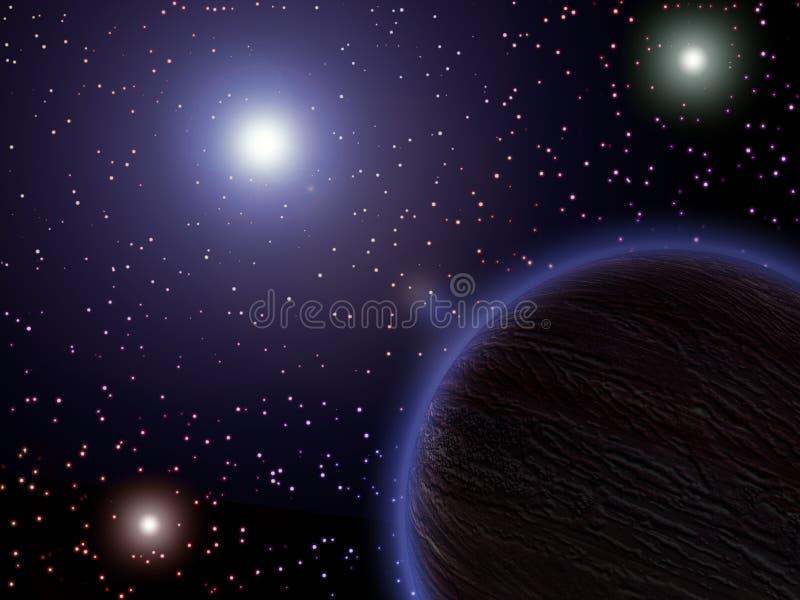Ruimte, planeten, sterren vector illustratie