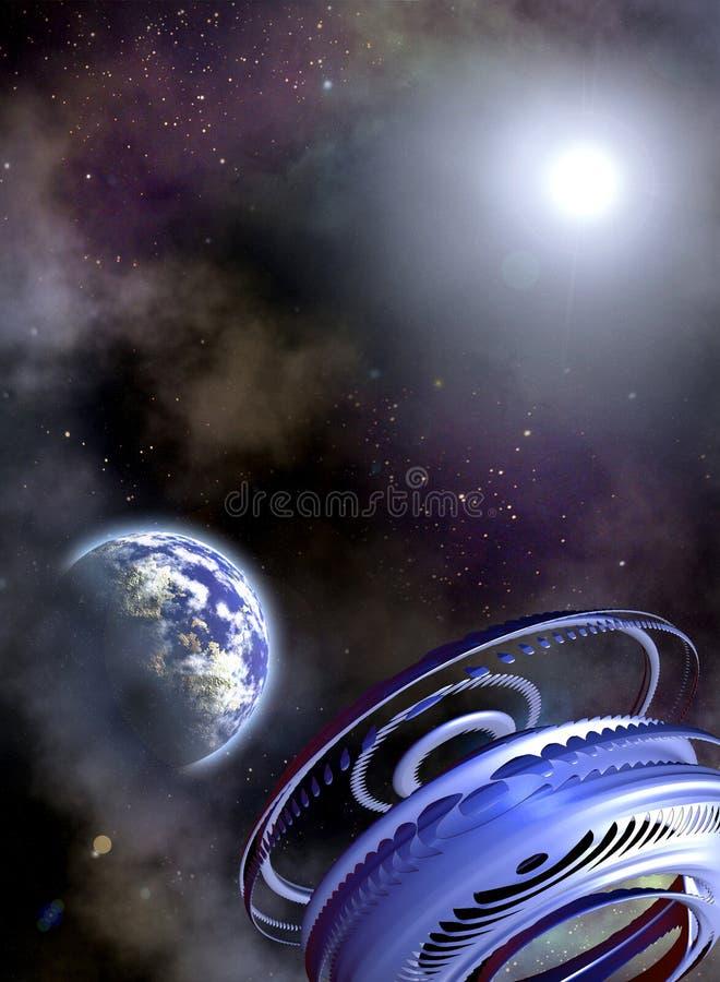 Ruimte scenario vector illustratie