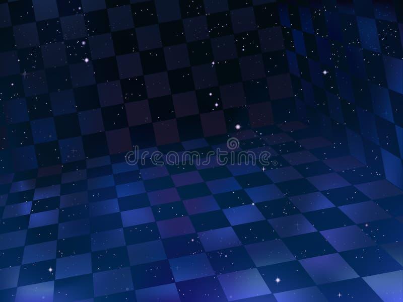 Ruimte schaakbord vector illustratie