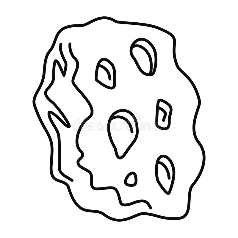 Ruimte stervormig pictogram, overzichtsstijl royalty-vrije illustratie