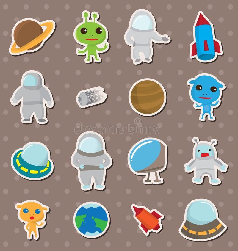 Ruimte stickers vector illustratie