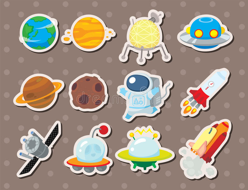 Ruimte stickers vector illustratie
