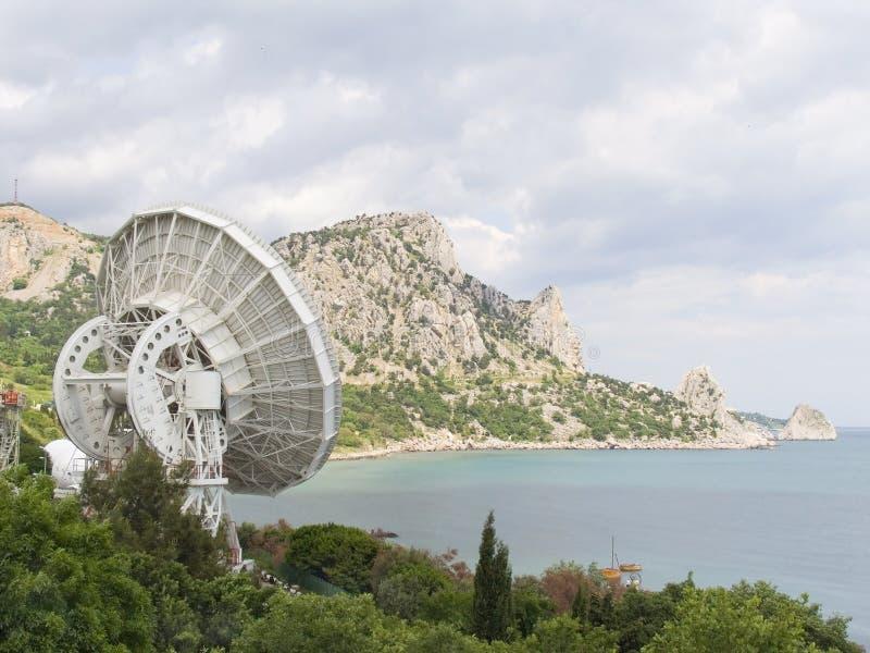 Ruimte telescoop stock foto