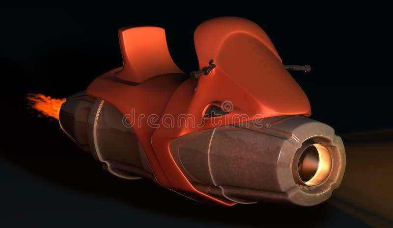 Ruimte toekomstige Motor royalty-vrije stock fotografie