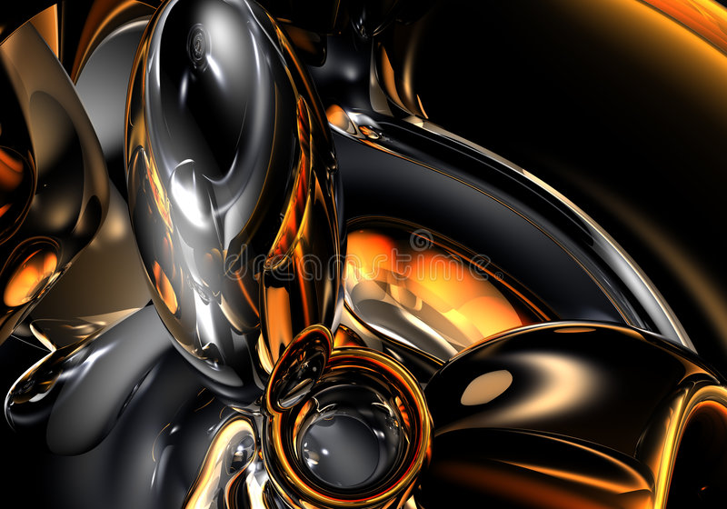 Ruimte van Gold&silver (samenvatting) 02 stock illustratie