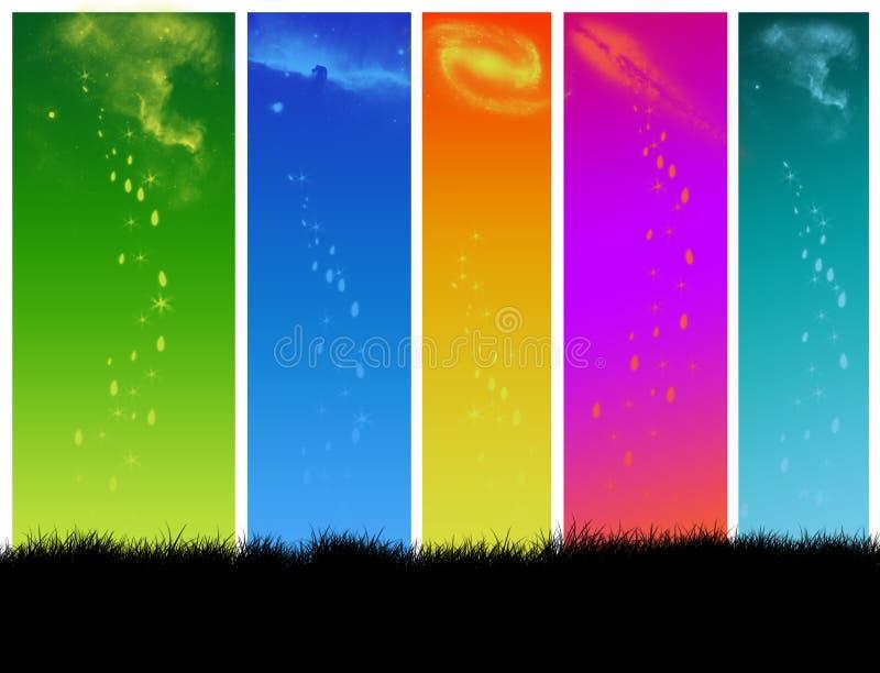 Ruimte van kleur royalty-vrije illustratie
