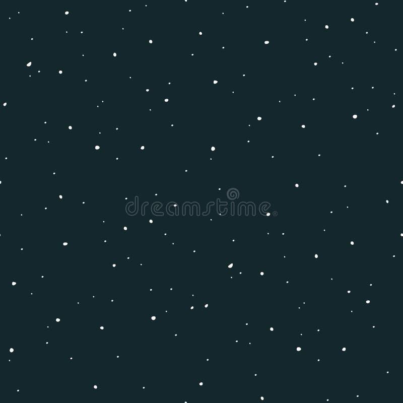 Ruimte vector naadloze de textuur kosmische achtergrond van het patroonheelal royalty-vrije illustratie