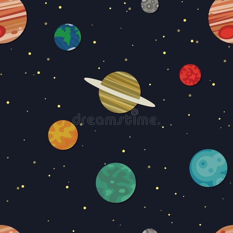 Ruimteachtergrond stock illustratie