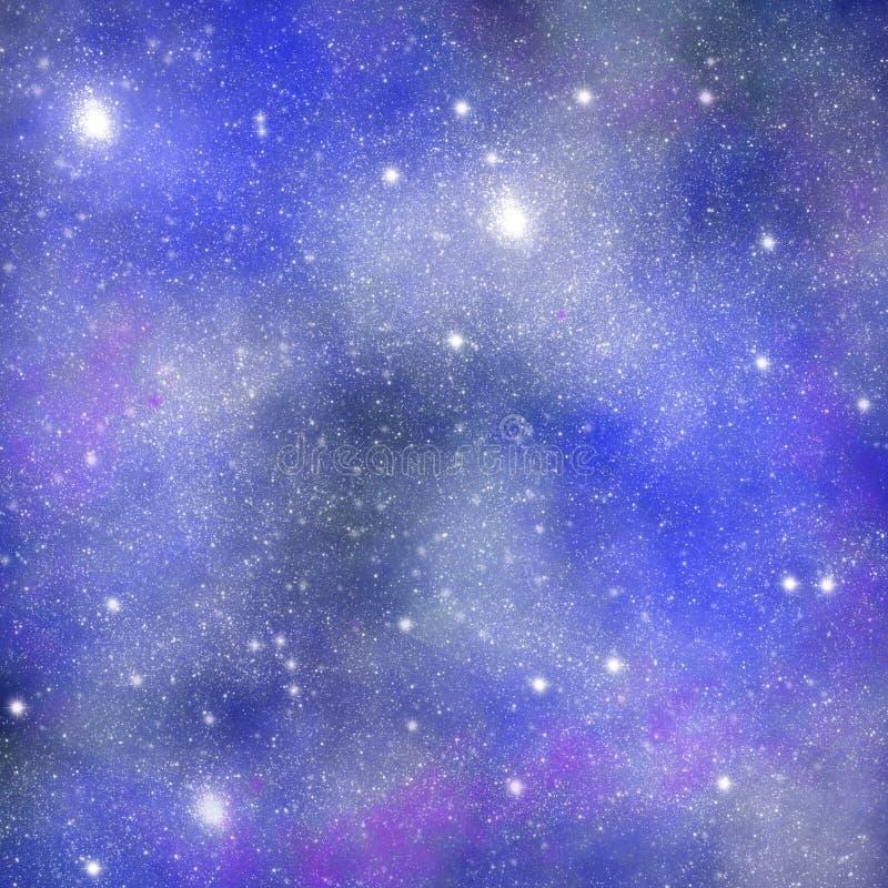 Ruimteachtergrond, Melkwegtextuur, Ruimtebehang voor druk, ontwerp van gevallen en andere oppervlakten vector illustratie