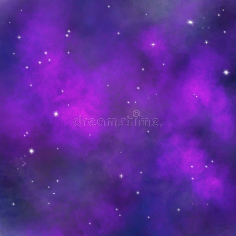 Ruimteachtergrond, Melkwegtextuur, Ruimtebehang voor druk, ontwerp van gevallen en andere oppervlakten stock illustratie