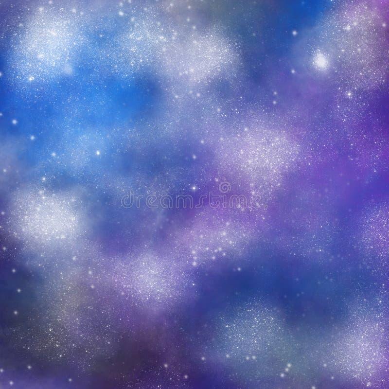Ruimteachtergrond, Melkwegtextuur, Ruimtebehang voor druk, ontwerp van gevallen en andere oppervlakten royalty-vrije illustratie