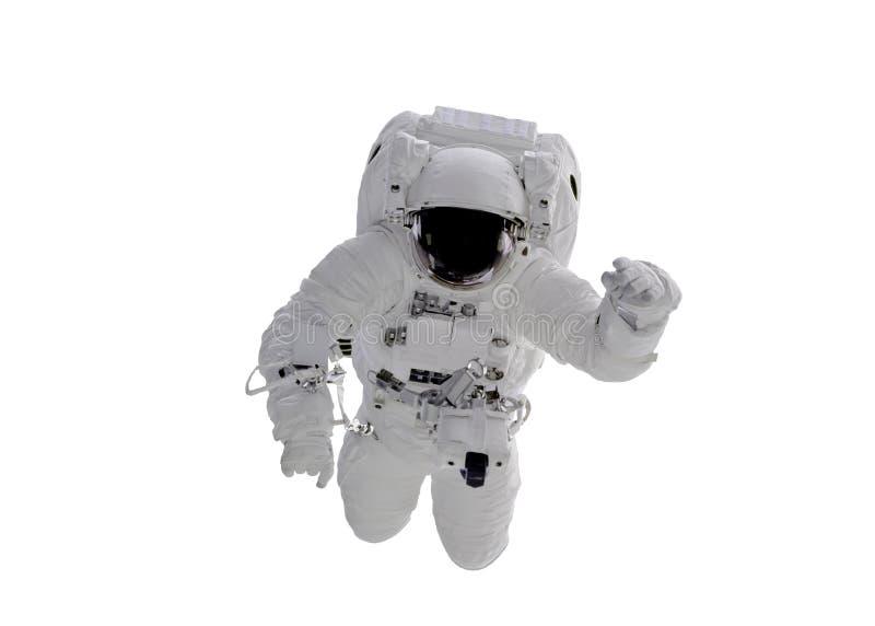 RuimtedieAstronaut op witte achtergrond wordt geïsoleerd De elementen van dit beeld werden geleverd door NASA royalty-vrije stock foto