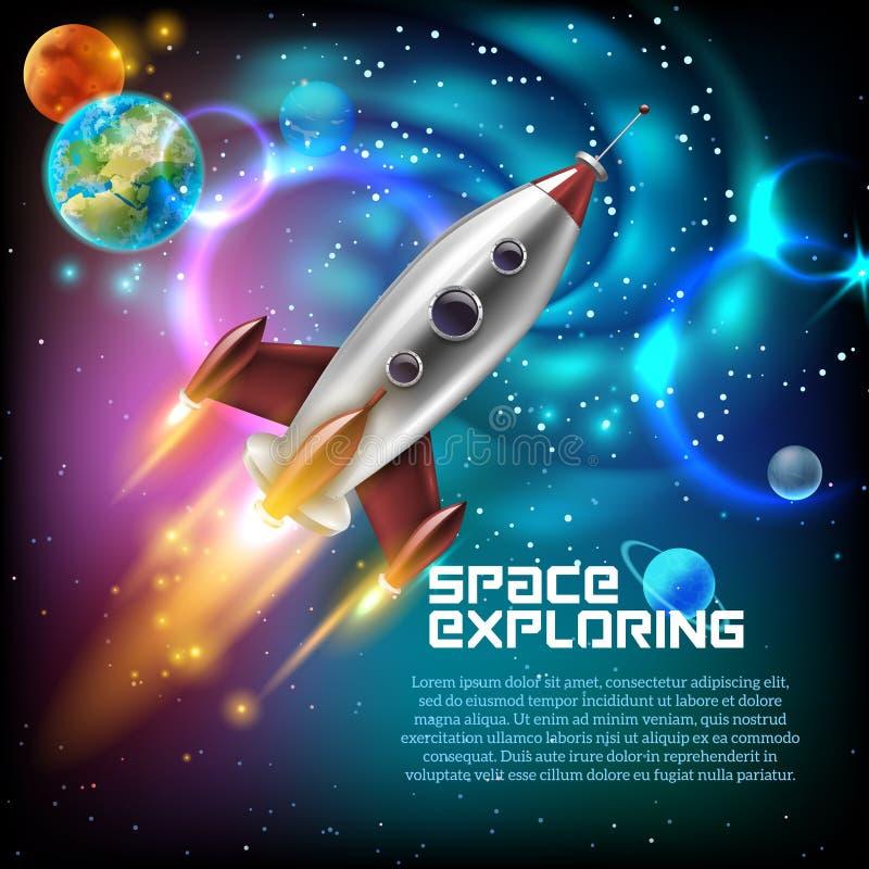 Ruimteexploratieillustratie stock illustratie