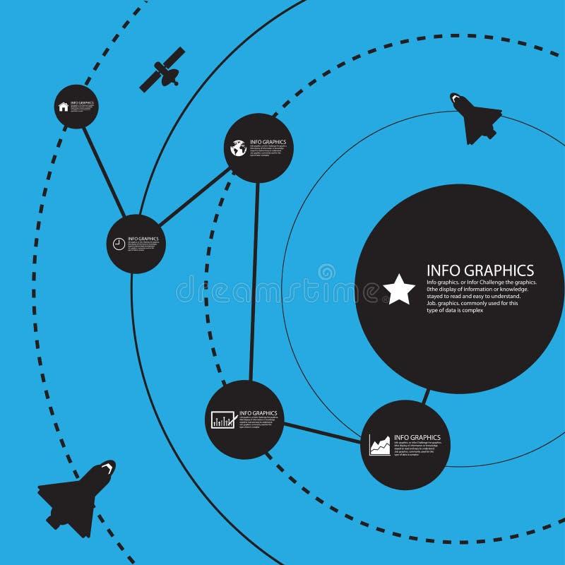 ruimteinformatieachtergrond, Illustratie eps 10 royalty-vrije illustratie