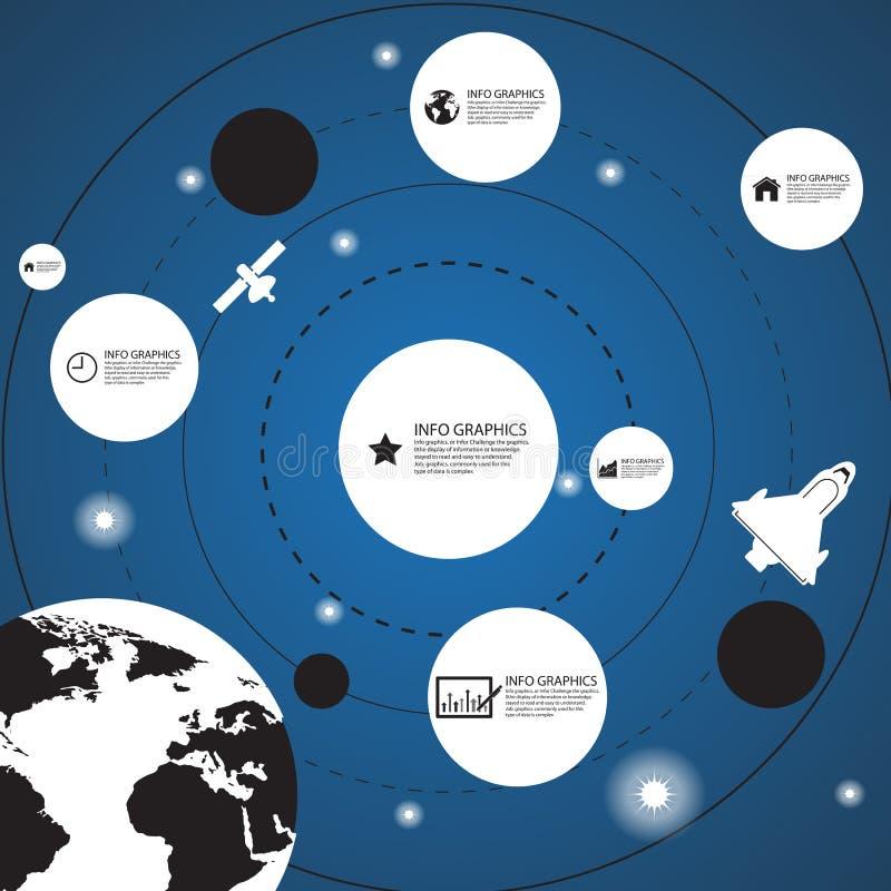 ruimteinformatieachtergrond, Illustratie eps 10 vector illustratie