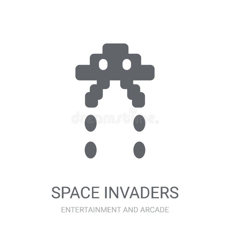 Ruimteinvallerspictogram  vector illustratie