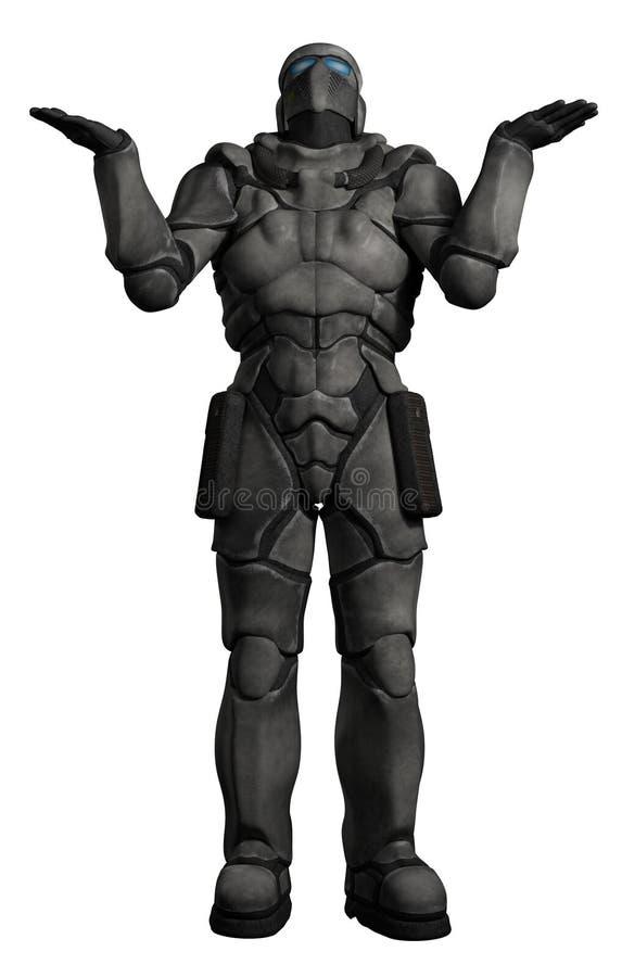 Ruimtemarine trooper shrugging vector illustratie