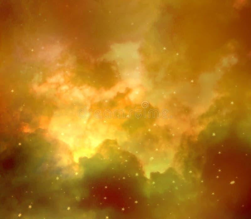 Ruimtenevel op kosmische ruimteachtergrond abstracte achtergrond stock afbeelding