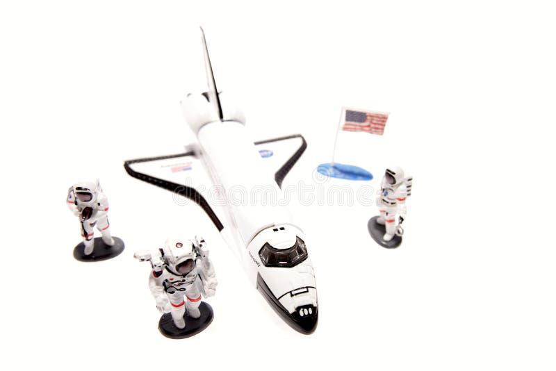 Ruimtependel en astronauten royalty-vrije stock afbeelding